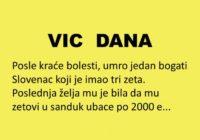 VIC DANA: Umro bogati Slovenac..